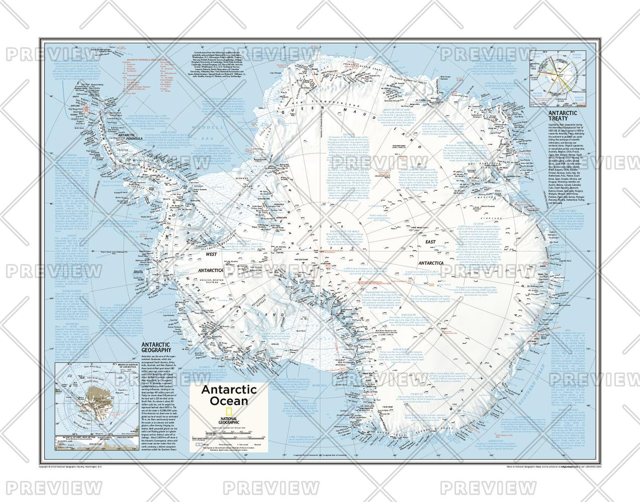 Antarctica Wall Map
