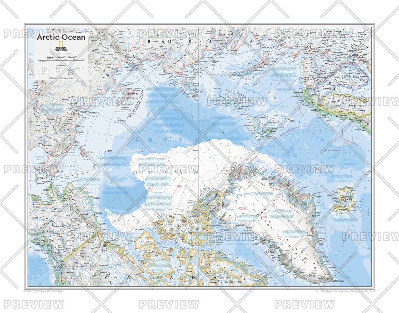 Arctic Ocean Wall Map