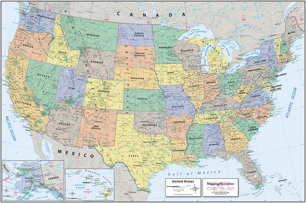 Map Of The The United States.Classic Political Usa Map