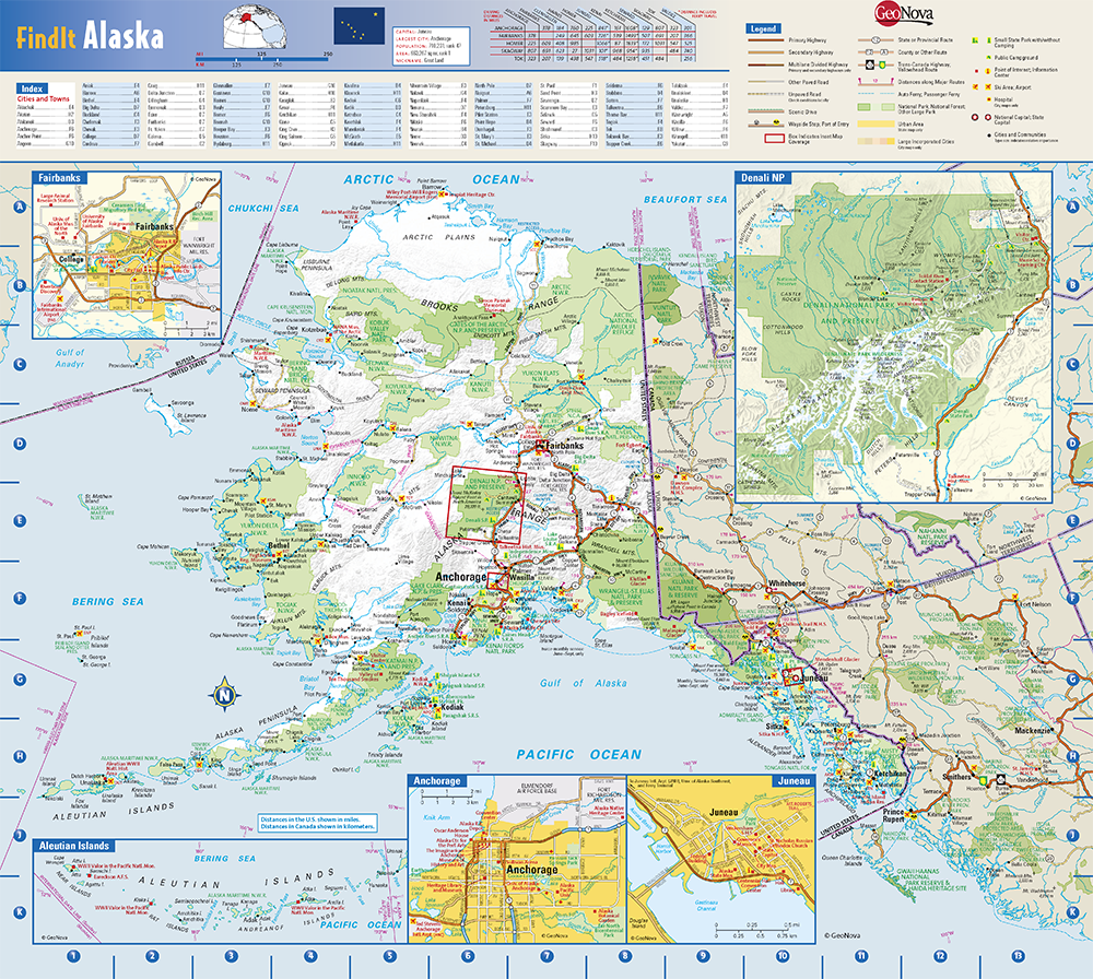 Innovative Classroom Product ~ Alaska state wall map by globe turner