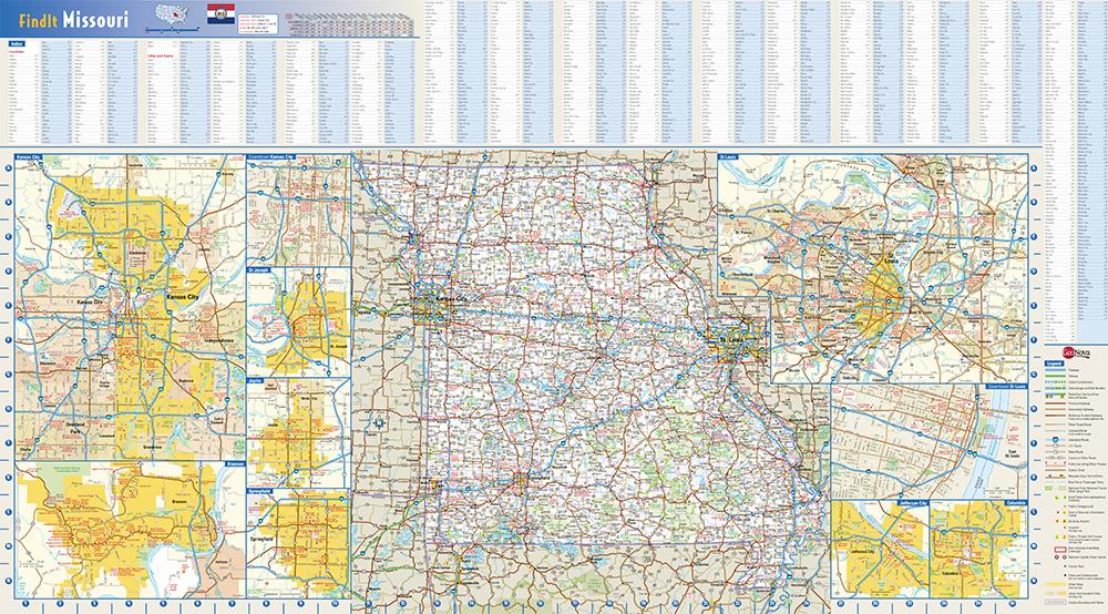 Missouri State Wall Map By Globe Turner