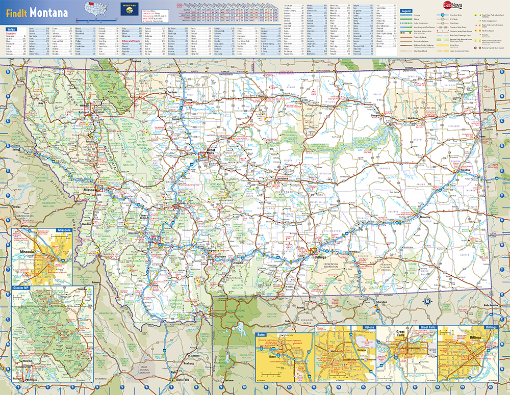 Montana State Wall Map By Globe Turner