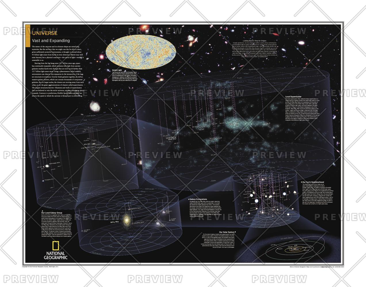 Wall Map Of The Universe