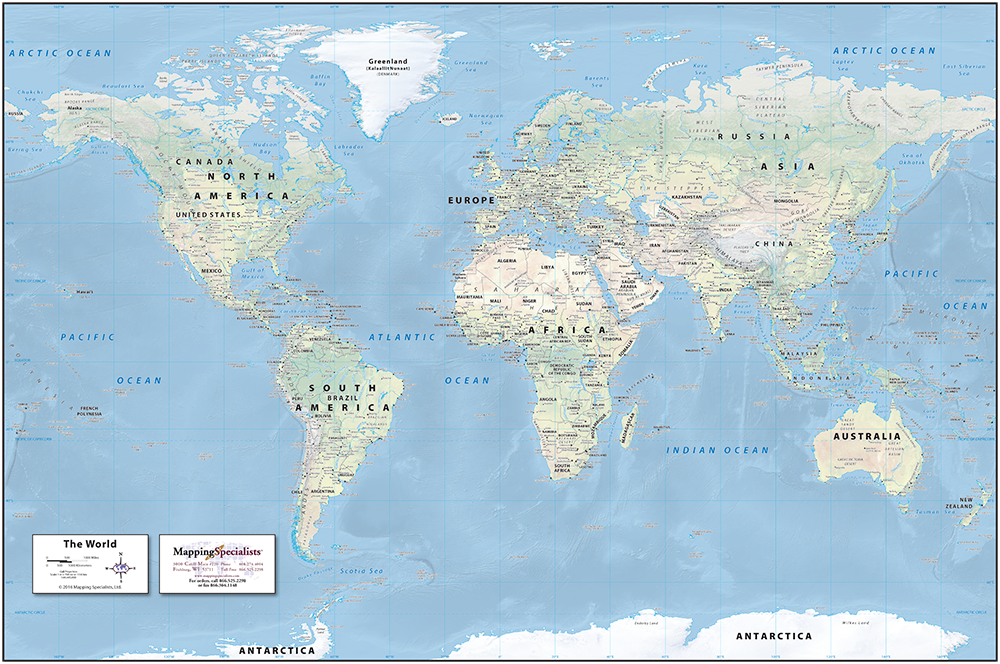 World Map Physical Classic Physical World Map World Map Physical