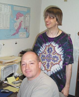 MSL's Senior Cartographers: (back) William Kyngesburye; (front) Paul Crowder.