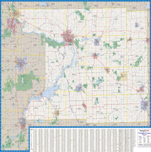 Columbia County Wall Map