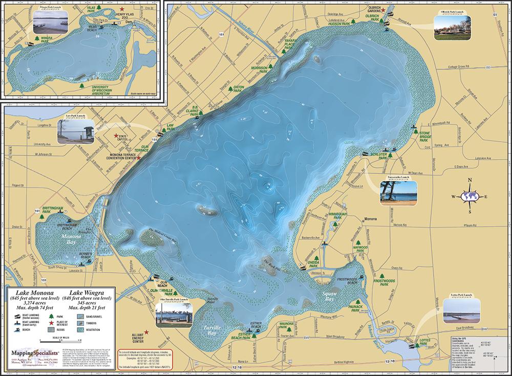 Monona Amp Wingra Fold Map