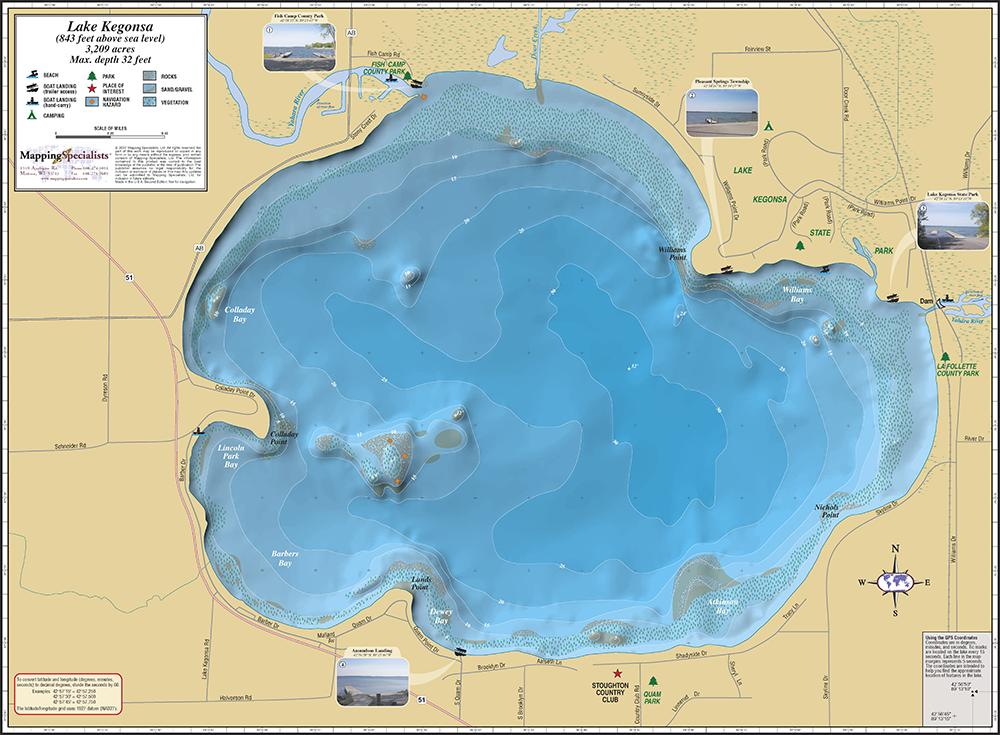 Kegonsa Fold Map
