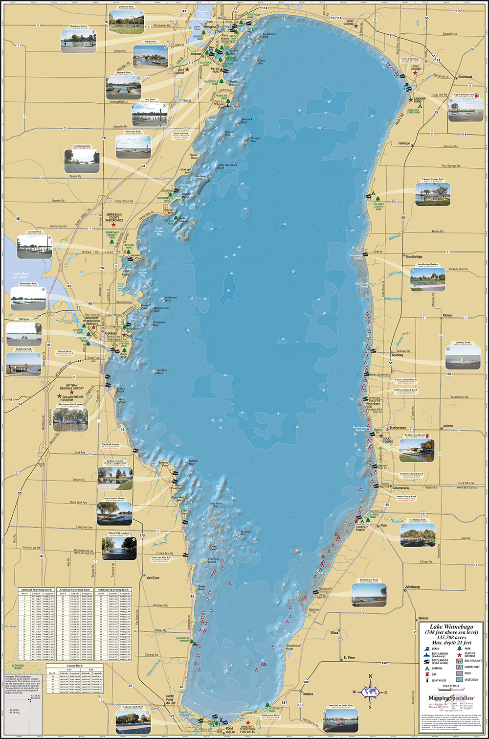Lake Winnebago Map Winnebago Fold Map Lake Winnebago Map