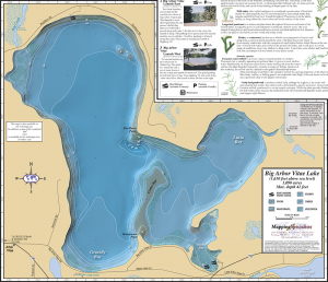 Big & Little Arbor Vitae Lakes Fold Map