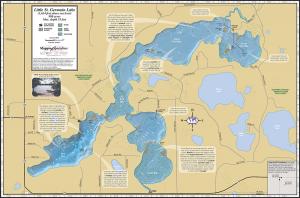 Little St. Germain Lake Fold Map