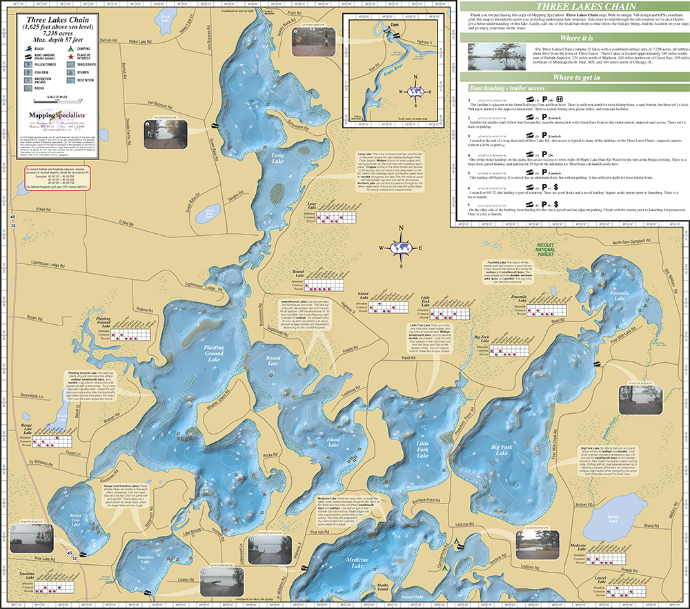 Eagle river wisconsin chain of lakes map best image for Southern wisconsin fishing resorts