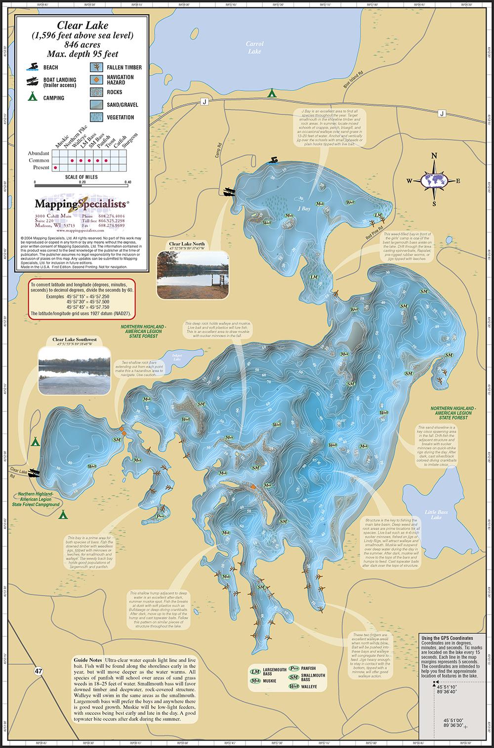 Clear Lake Fold Map