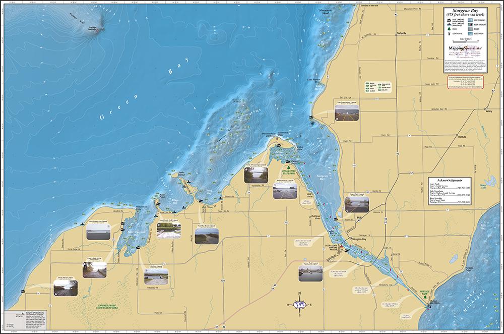 sturgeon bay michigan map Sturgeon Bay Fold Map