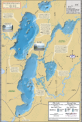 Pike & Round Lakes Chain Fold Map