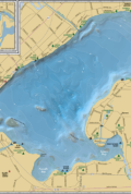 Lake Monona & Lake Wingra Wall Map