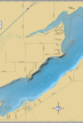 Delavan Lake Wall Map