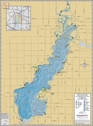 Petenwell Lake Wall Map