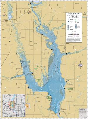 Castle Rock Lake Wall Map