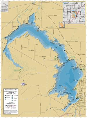 Beaver Dam Lake Wall Map
