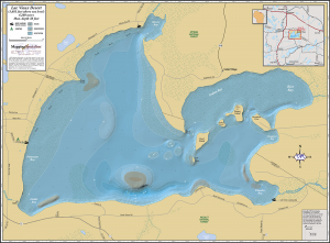 Lac Vieux Desert Wall Map