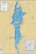 Red Cedar Lake Wall Map
