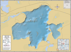 Little Arbor Vitae Lake Wall Map