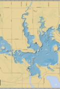 Lake Nokomis Wall Map