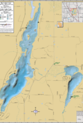Big & Little Cedar Lakes Wall Map