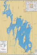 Sinissippi Lake Wall Map