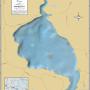 Alder Lake (Manitowish Chain) Wall Map