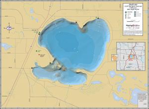 Shell Lake Wall Map