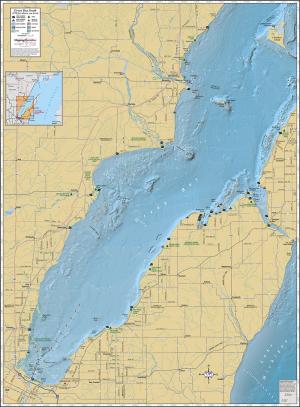 Green Bay (Southern) Wall Map
