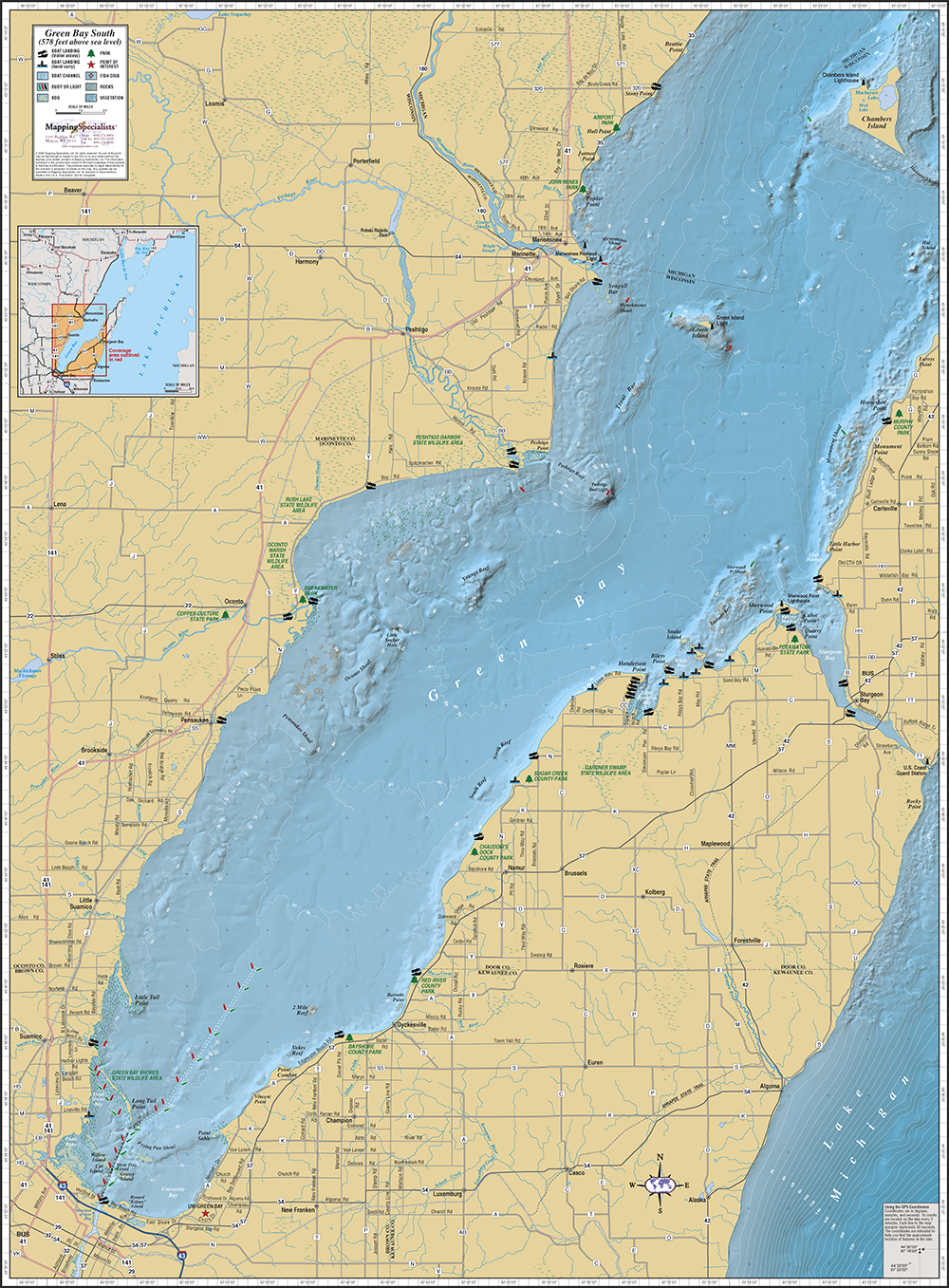 Https Www Mappingspecialists Com Store Green Bay Southern Wall Map