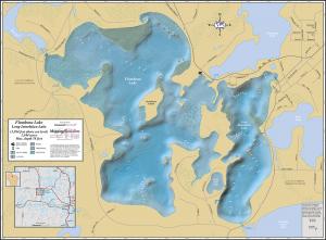 Flambeau & Long Interlaken Lakes Wall Map