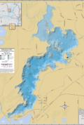 Pokegama Lake Wall Map