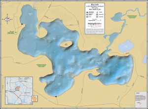 Big Lake Wall Map