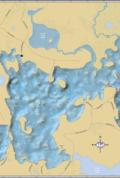 Crab Lake Wall Map