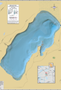 Kentuck Lake Wall Map
