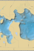 Two Sisters Lake Wall Map