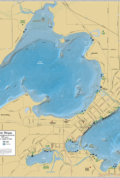 Lake Mendota & Lake Monona Wall Map