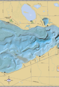 Shawano Lake Wall Map