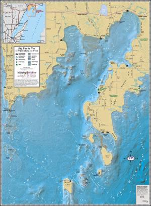 Big Bay de Noc Wall Map