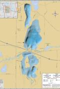 Upper & Lower Nemahbin Lakes Wall Map