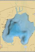 Pike Lake Wall Map