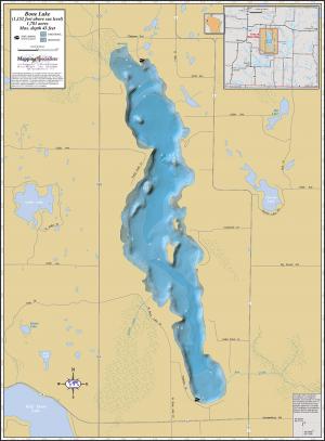 Bone Lake Wall Map
