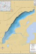 Long Lake (Vilas Co.) Wall Map
