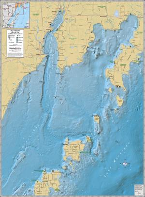 Big & Little Bay de Noc Wall Map