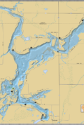 Holcombe Flowage Wall Map