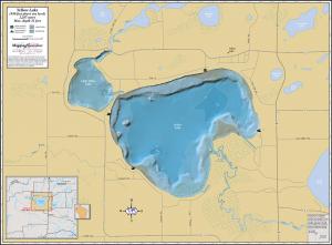 Yellow Lake Wall Map